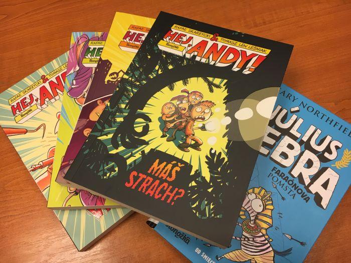 detské knihy a Hej Andy