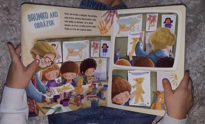 Miško a Brumko idú do škôlky, detská kniha, Stonožka a recenzia