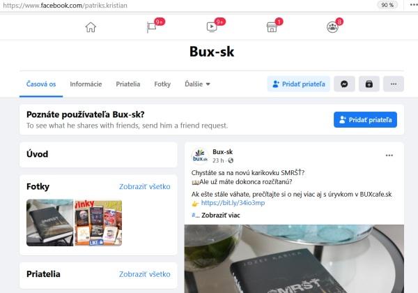 Podvodné knižné stránky, zneužitie bux.sk